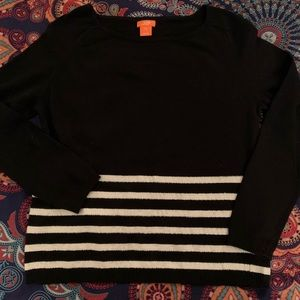 Joe Fresh black and white cashmere blend sweater